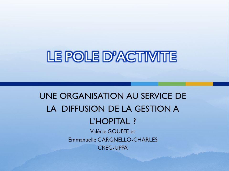 LE POLE D'ACTIVITE UNE ORGANISATION AU SERVICE DE
