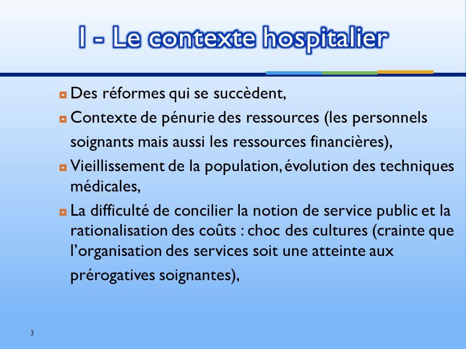 I - Le contexte hospitalier