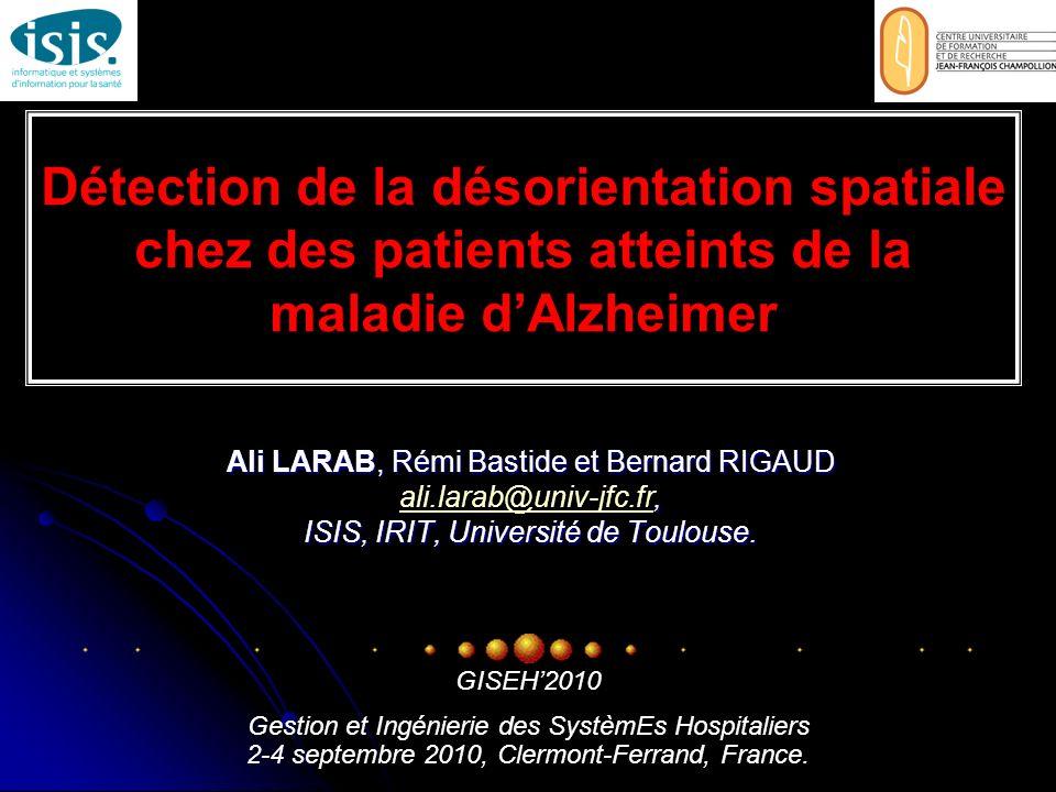Détection de la désorientation spatiale chez des patients atteints de la maladie d'Alzheimer
