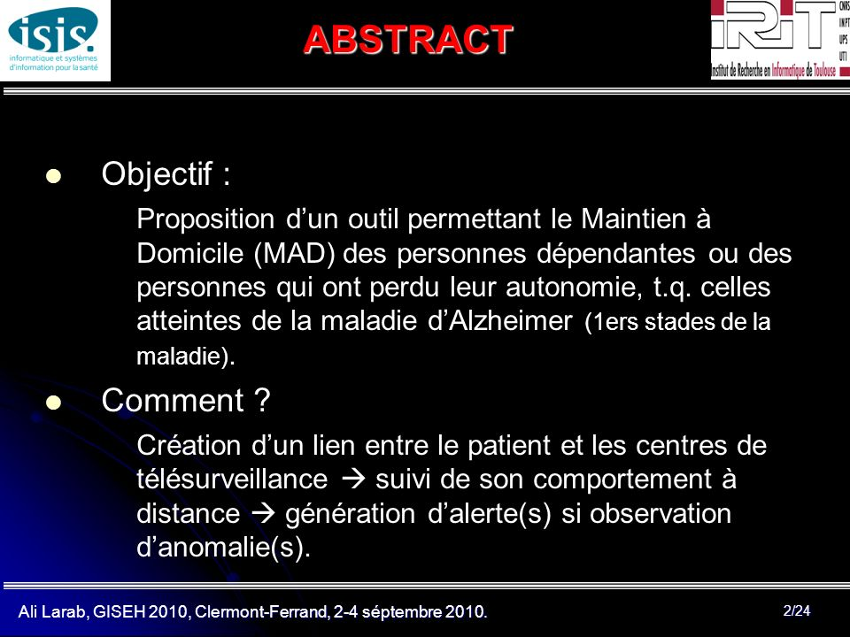ABSTRACT Objectif : Comment