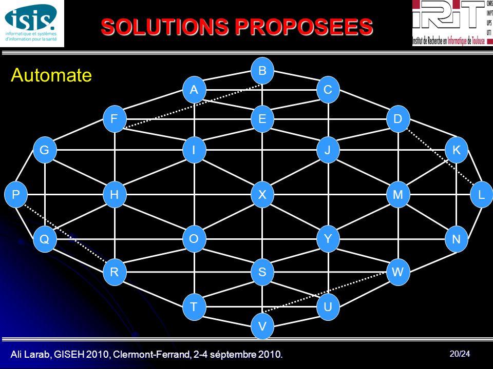 SOLUTIONS PROPOSEES Automate B A C F E D G I J K P H X M L Q O Y N R S