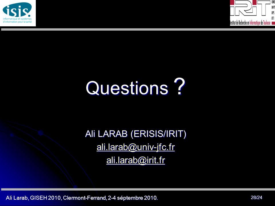 Ali LARAB (ERISIS/IRIT)