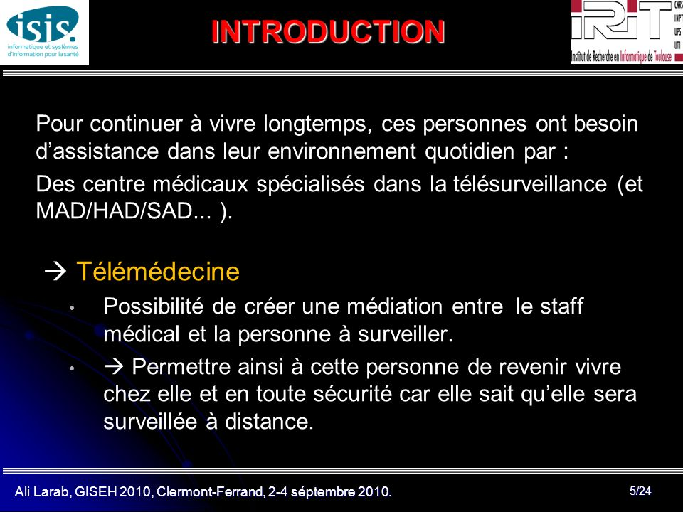 INTRODUCTION  Télémédecine