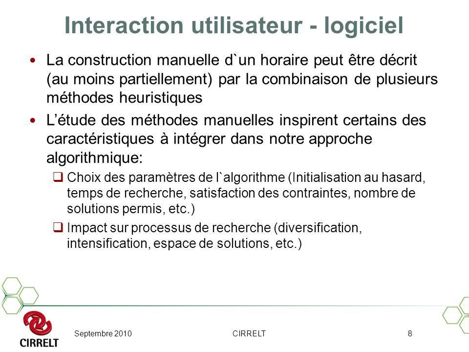 Interaction utilisateur - logiciel