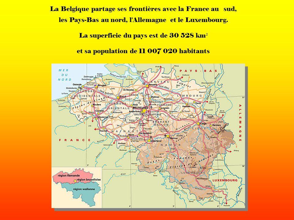 La Belgique partage ses frontières avec la France au sud, les Pays-Bas au nord, l Allemagne et le Luxembourg.