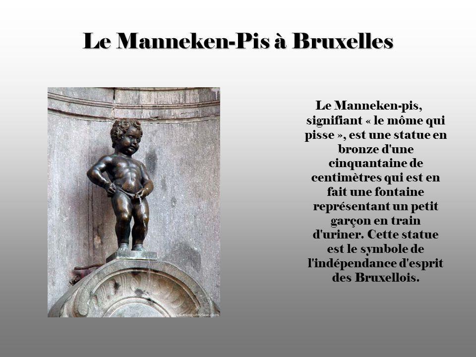 Le Manneken-Pis à Bruxelles