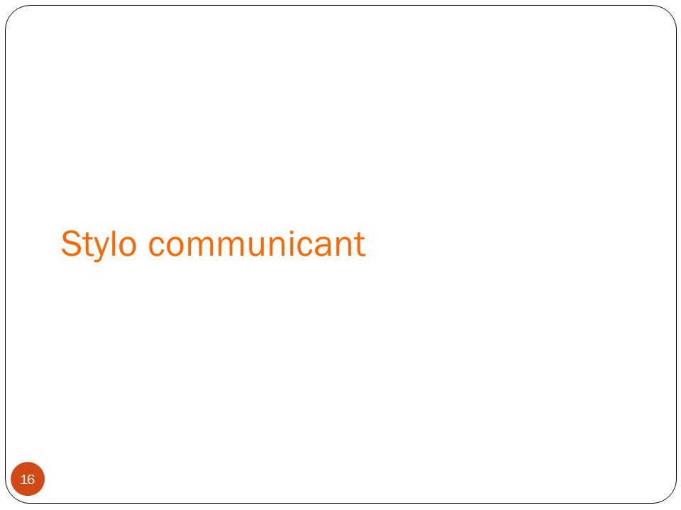 Stylo communicant