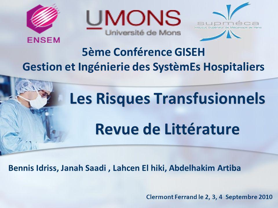 Les Risques Transfusionnels Revue de Littérature