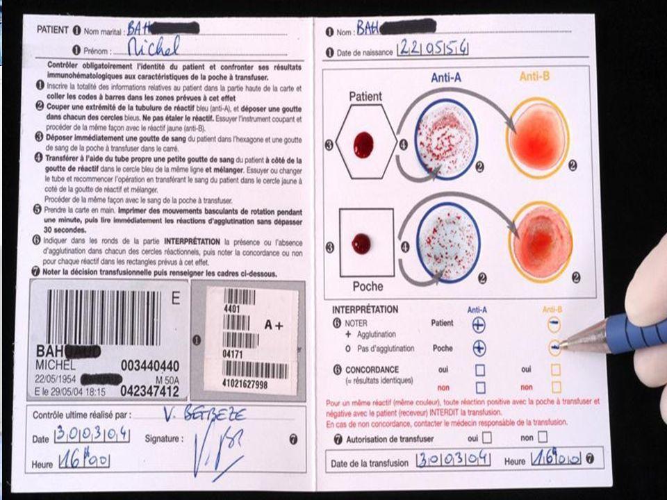 Risques Transfusionnels Risques Immuno-hématologique