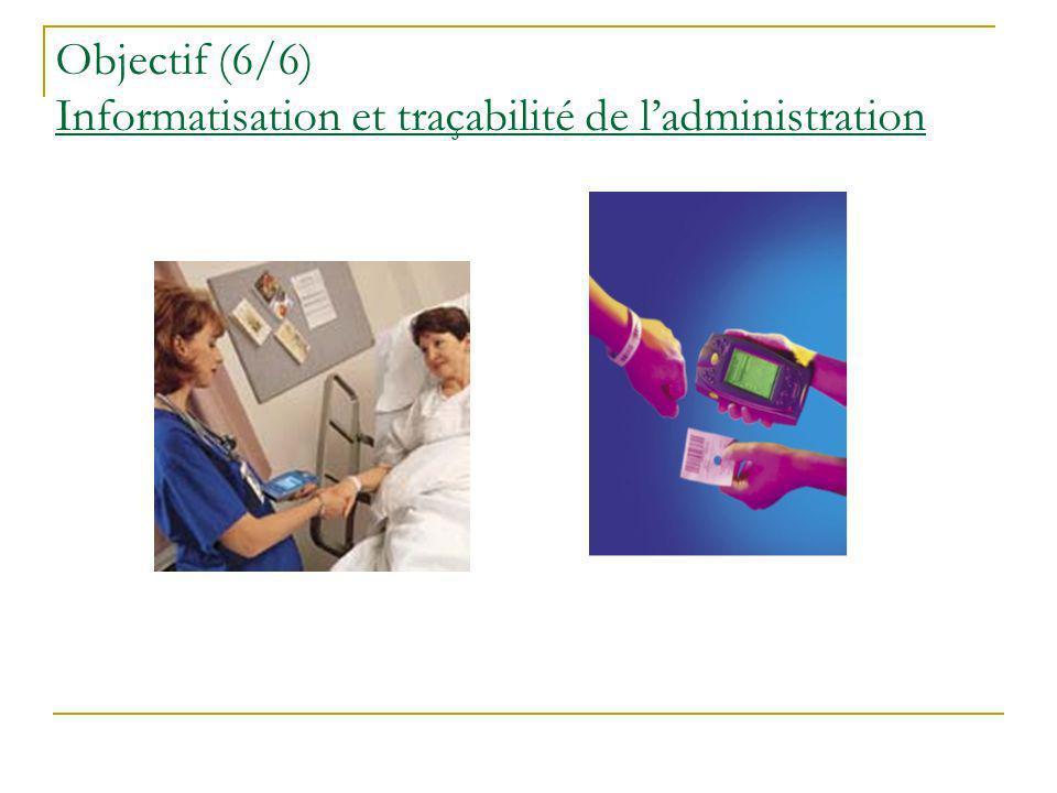 Objectif (6/6) Informatisation et traçabilité de l'administration