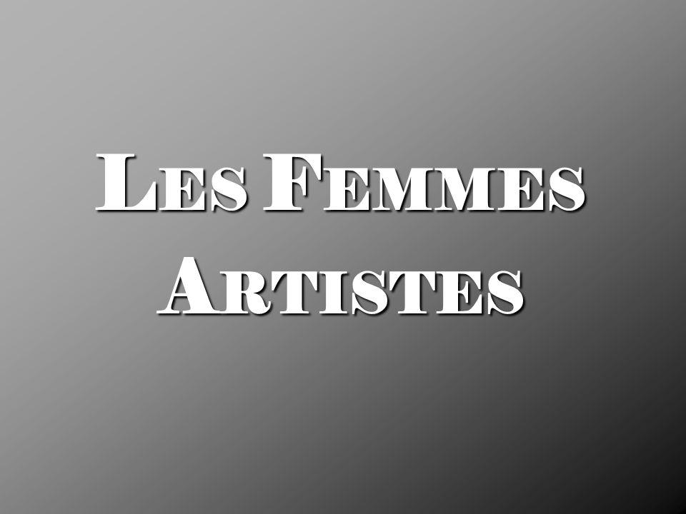 LES FEMMES ARTISTES