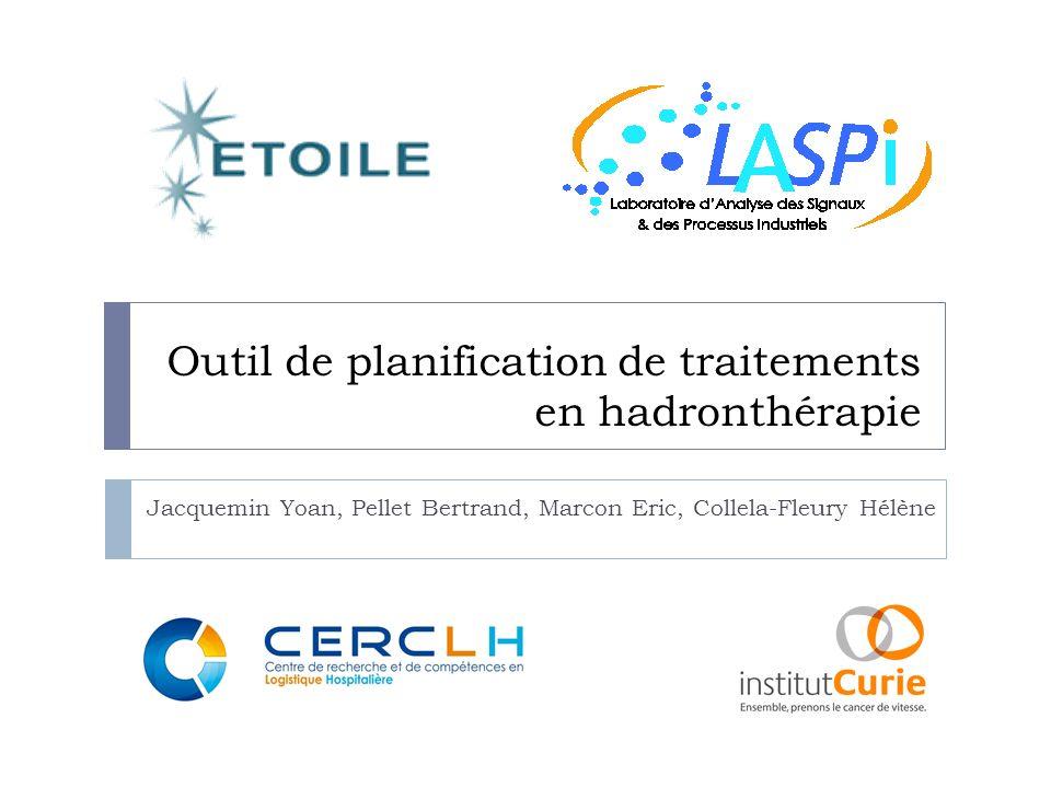 Outil de planification de traitements en hadronthérapie