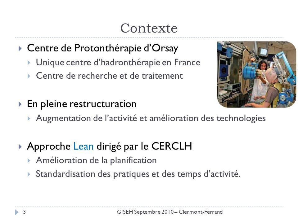 Contexte Centre de Protonthérapie d'Orsay En pleine restructuration