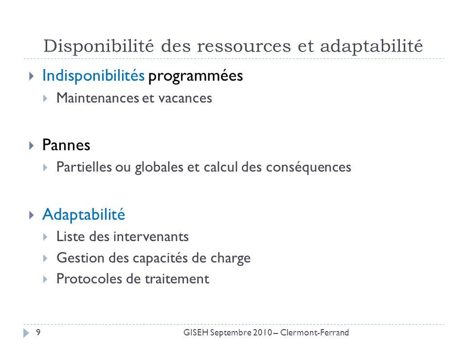 Disponibilité des ressources et adaptabilité