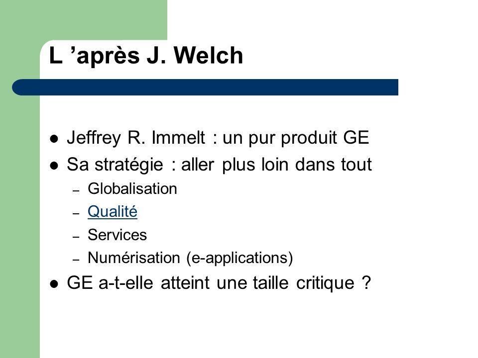 L 'après J. Welch Jeffrey R. Immelt : un pur produit GE