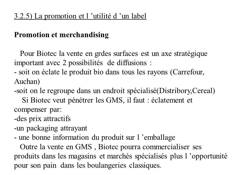 3.2.5) La promotion et l 'utilité d 'un label