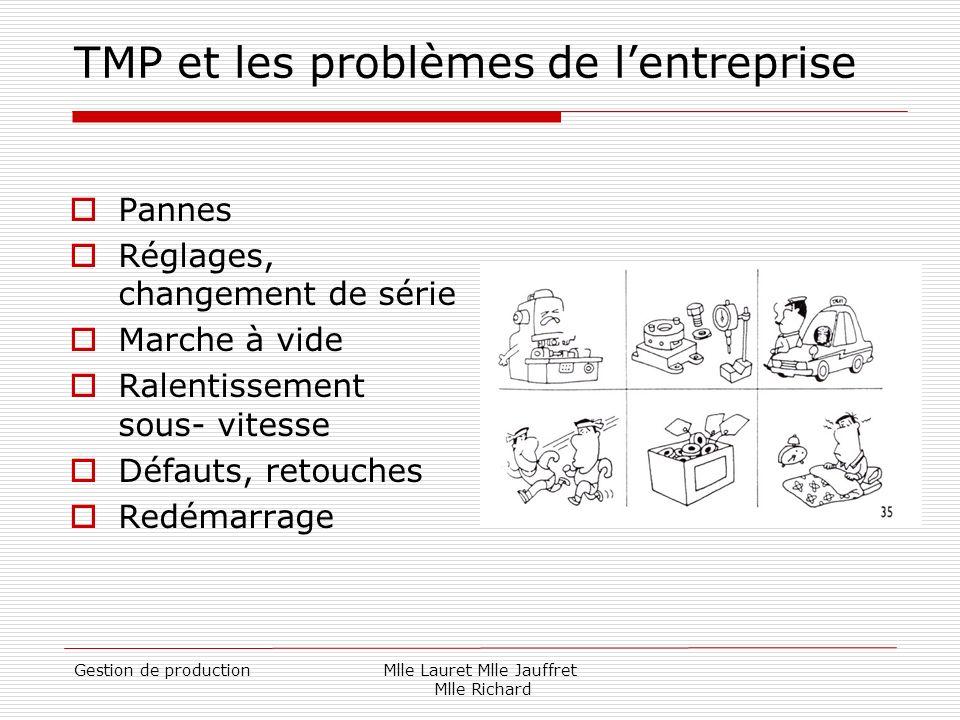 TMP et les problèmes de l'entreprise