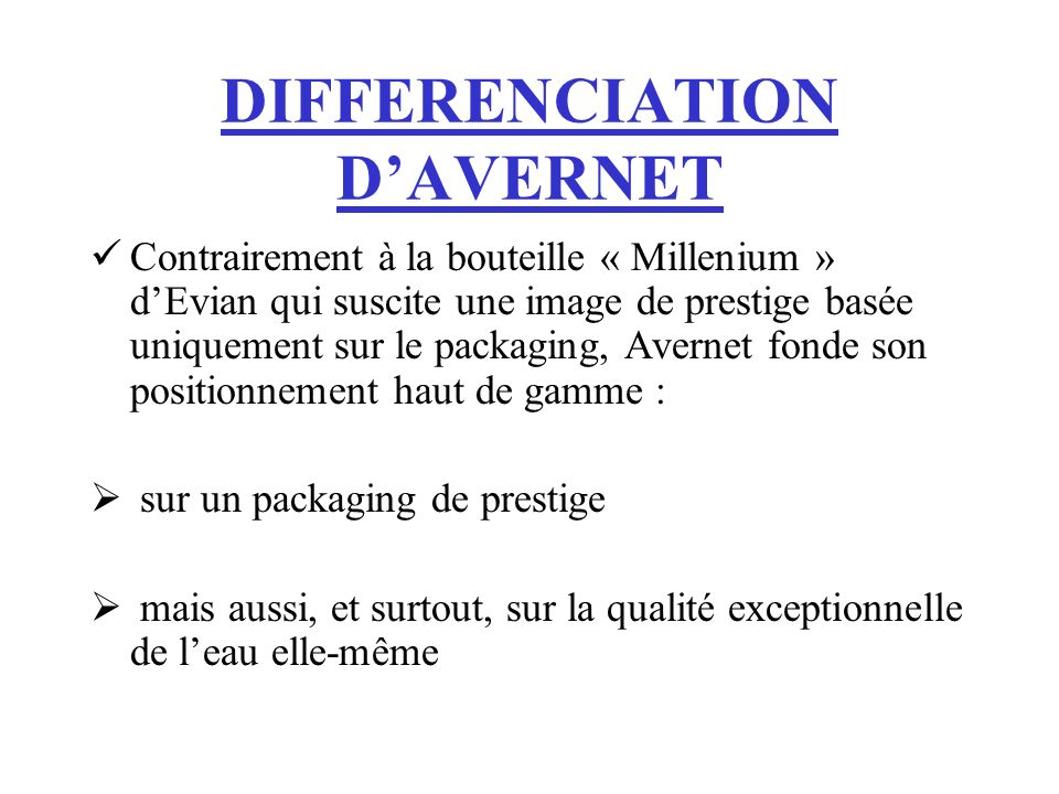 DIFFERENCIATION D'AVERNET