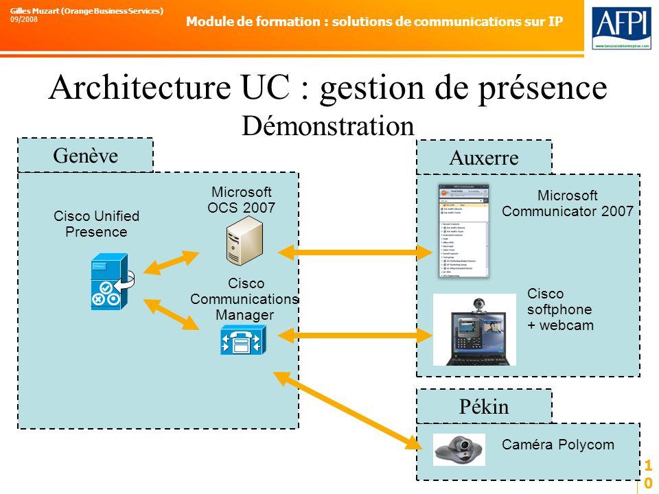 Architecture UC : gestion de présence Démonstration