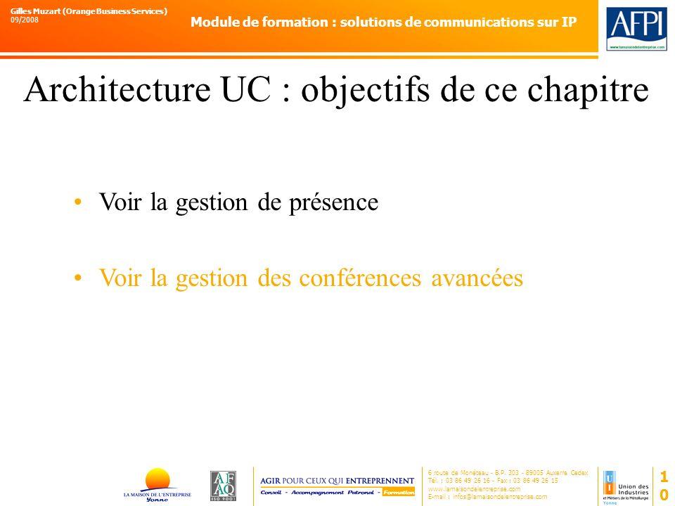 Architecture UC : objectifs de ce chapitre