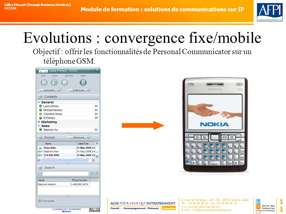 Evolutions : convergence fixe/mobile