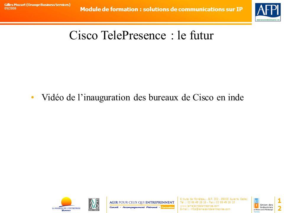 Cisco TelePresence : le futur
