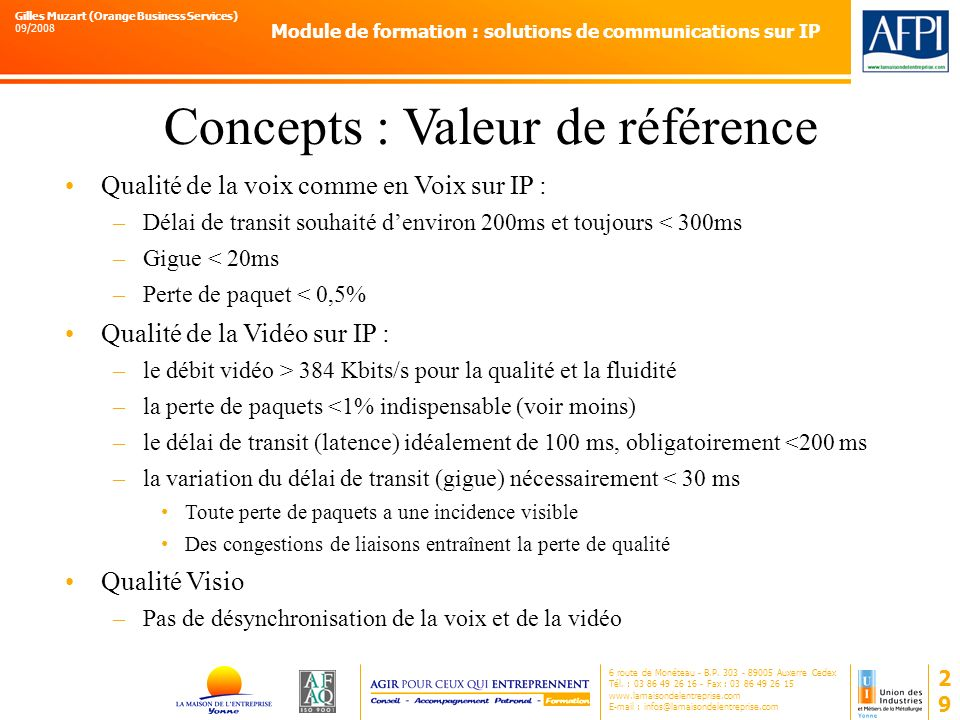 Concepts : Valeur de référence