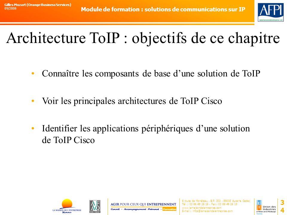 Architecture ToIP : objectifs de ce chapitre