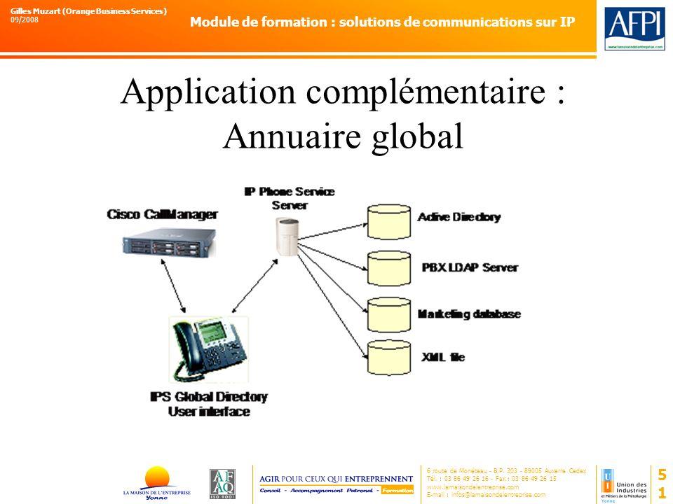 Application complémentaire : Annuaire global