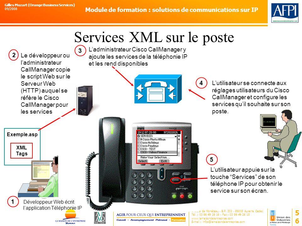 Services XML sur le poste