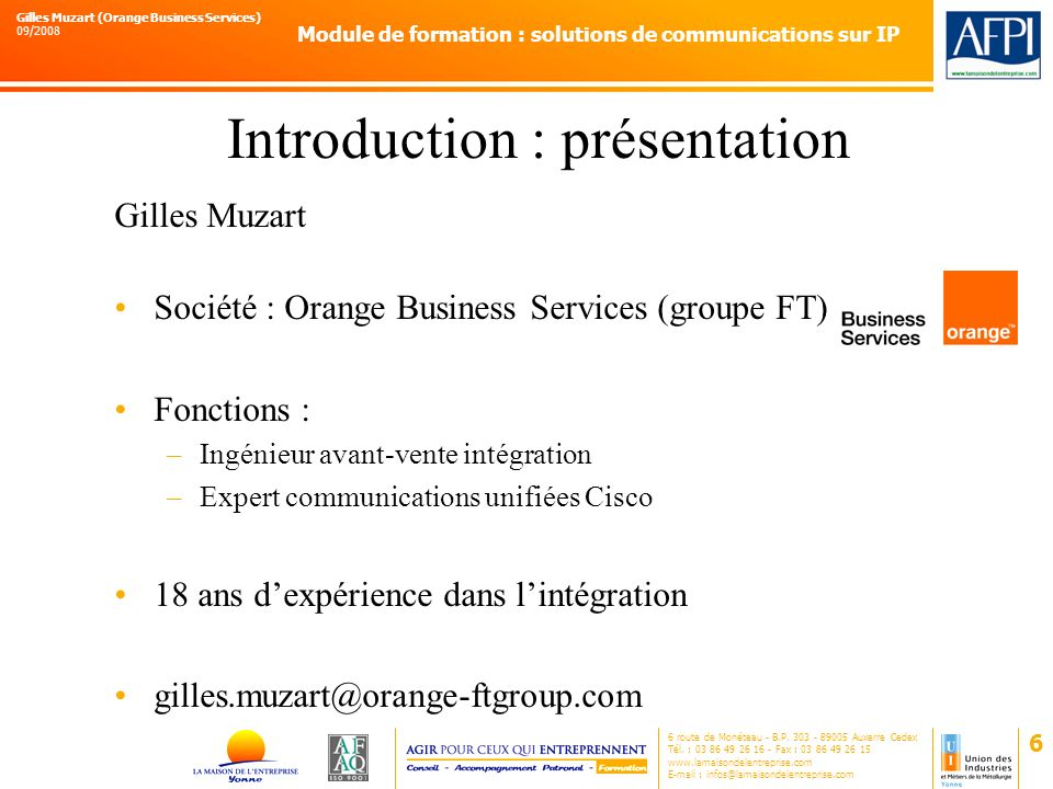 Introduction : présentation