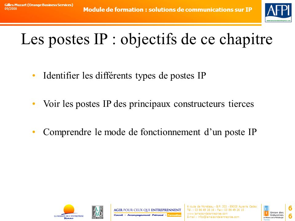Les postes IP : objectifs de ce chapitre