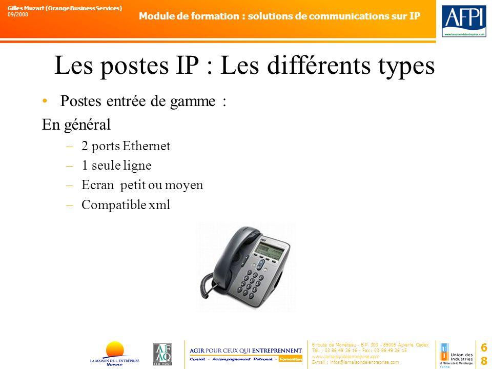 Les postes IP : Les différents types