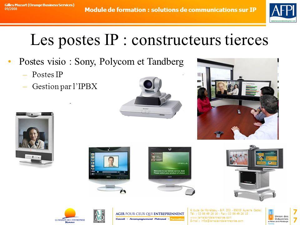 Les postes IP : constructeurs tierces