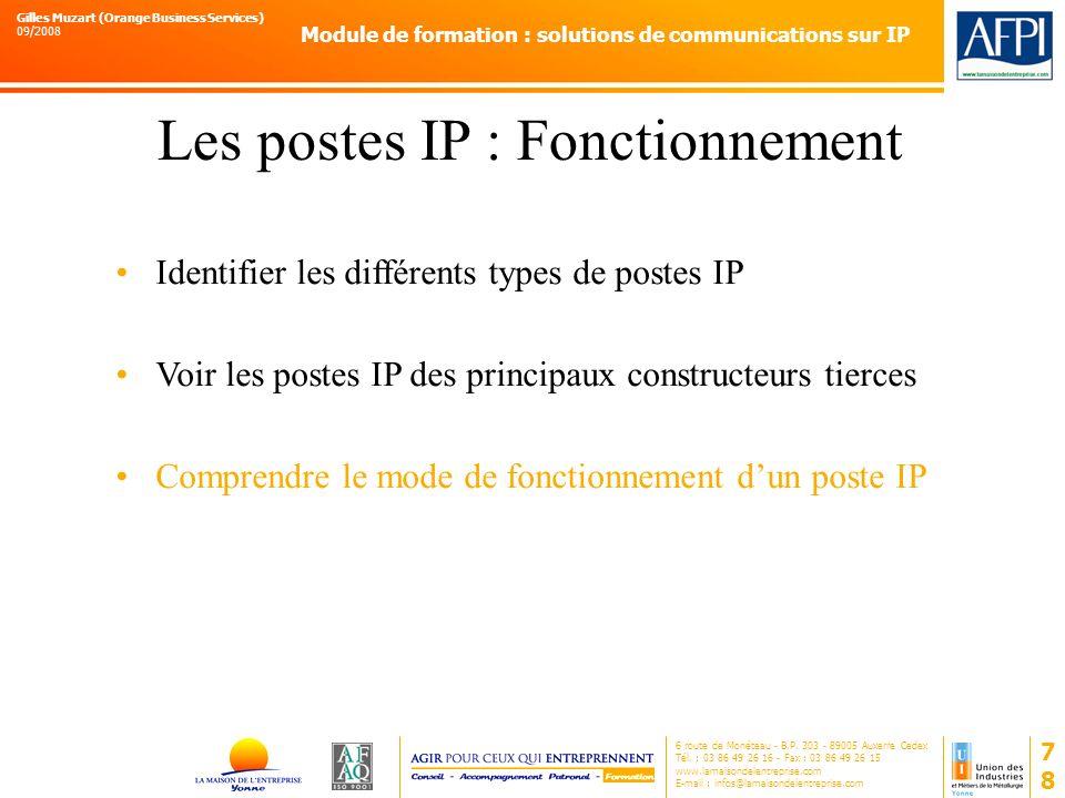 Les postes IP : Fonctionnement