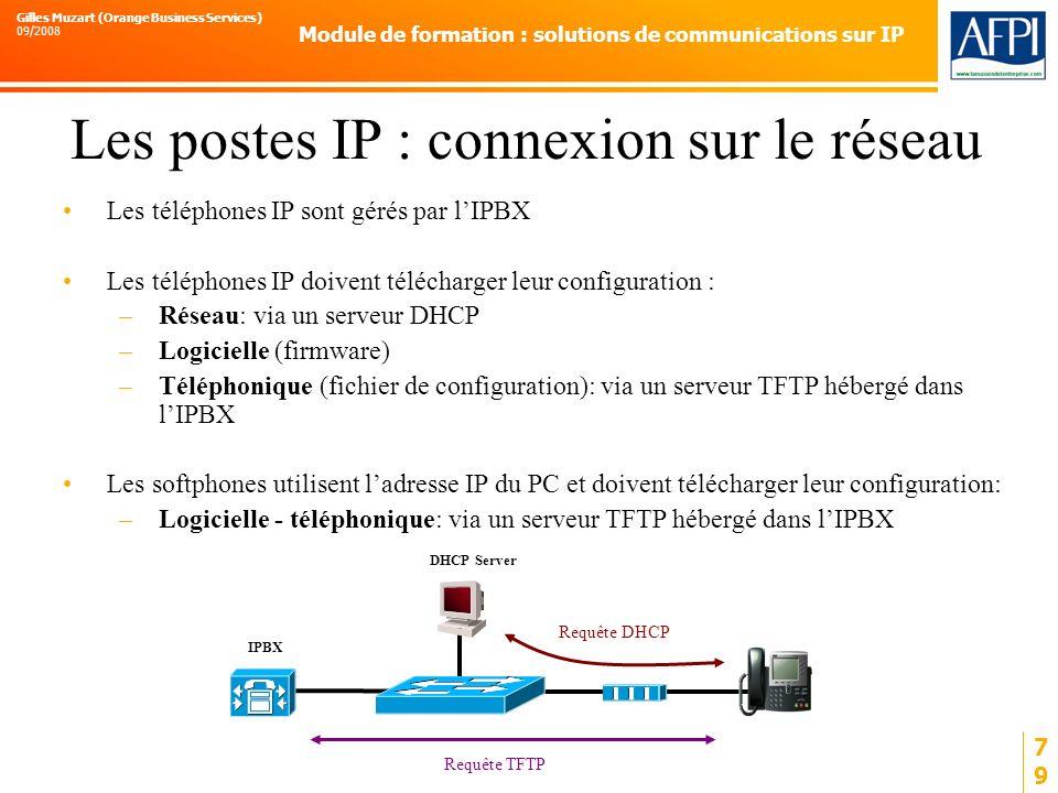 Les postes IP : connexion sur le réseau