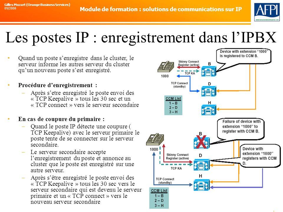 Les postes IP : enregistrement dans l'IPBX