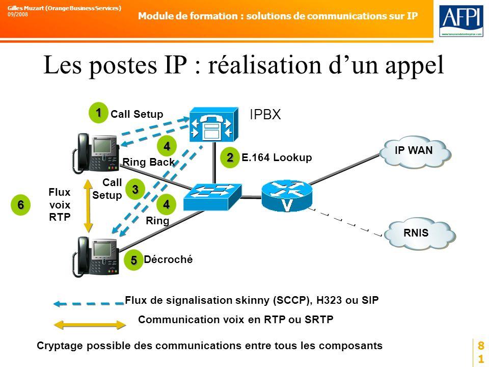 Les postes IP : réalisation d'un appel