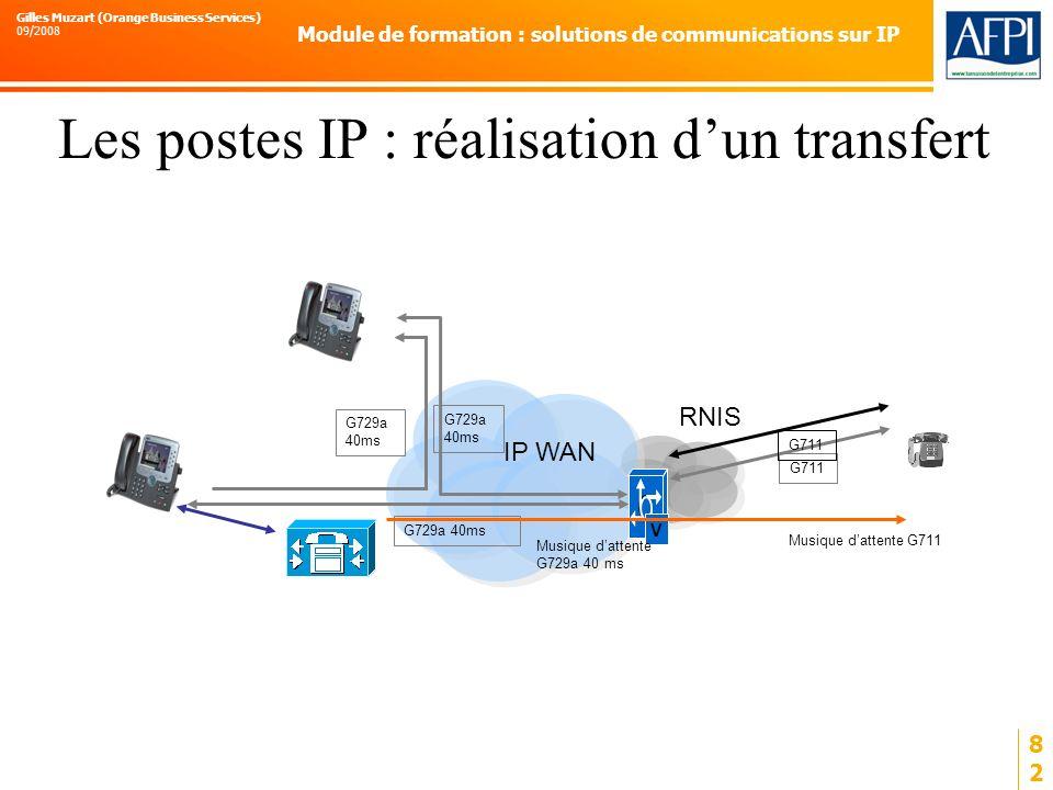 Les postes IP : réalisation d'un transfert