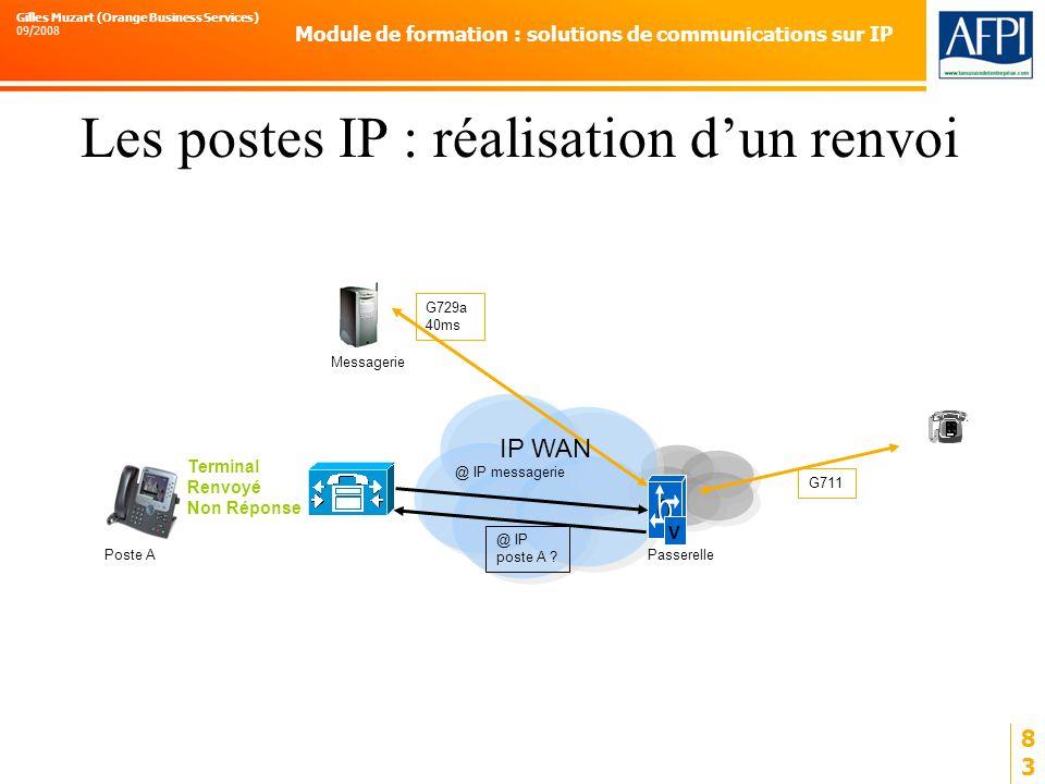 Les postes IP : réalisation d'un renvoi