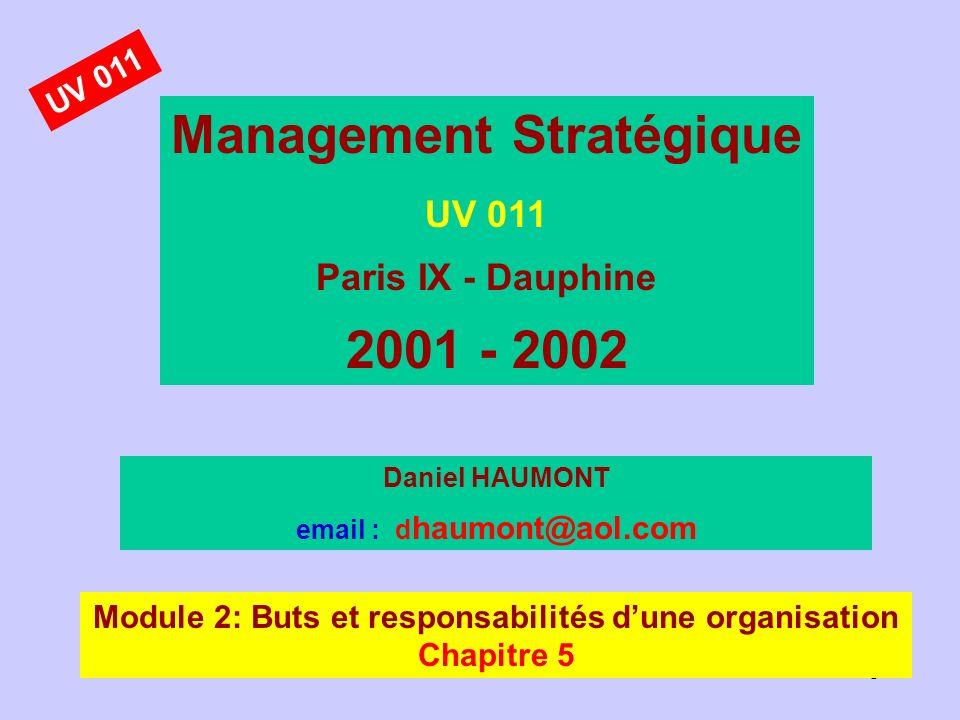 Management Stratégique 2001 - 2002