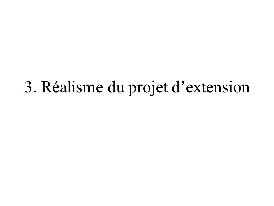 3. Réalisme du projet d'extension