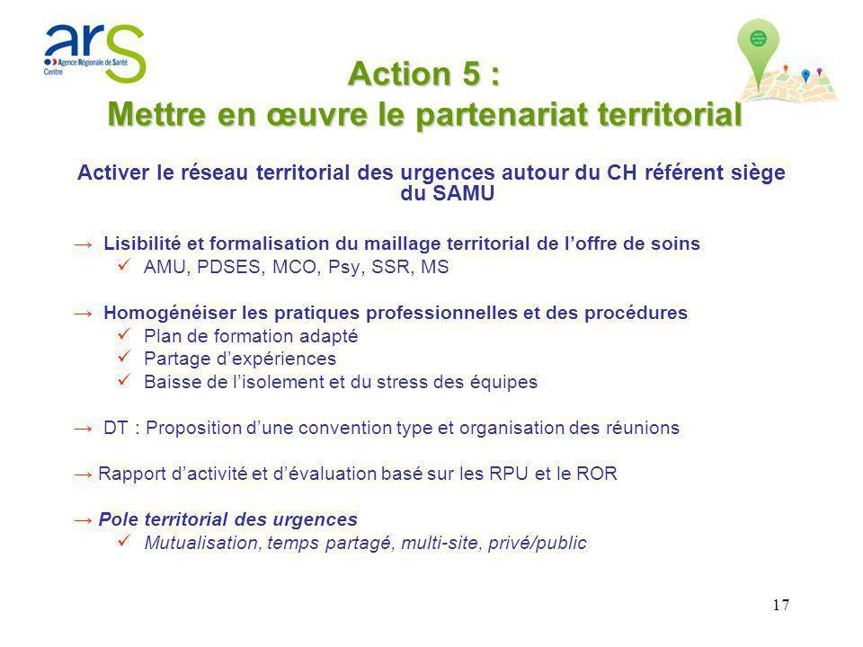 Action 5 : Mettre en œuvre le partenariat territorial