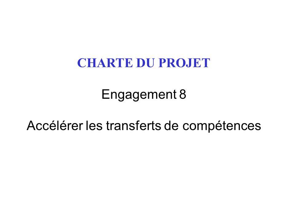 CHARTE DU PROJET Engagement 8 Accélérer les transferts de compétences