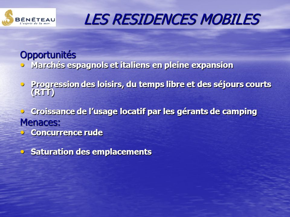 LES RESIDENCES MOBILES