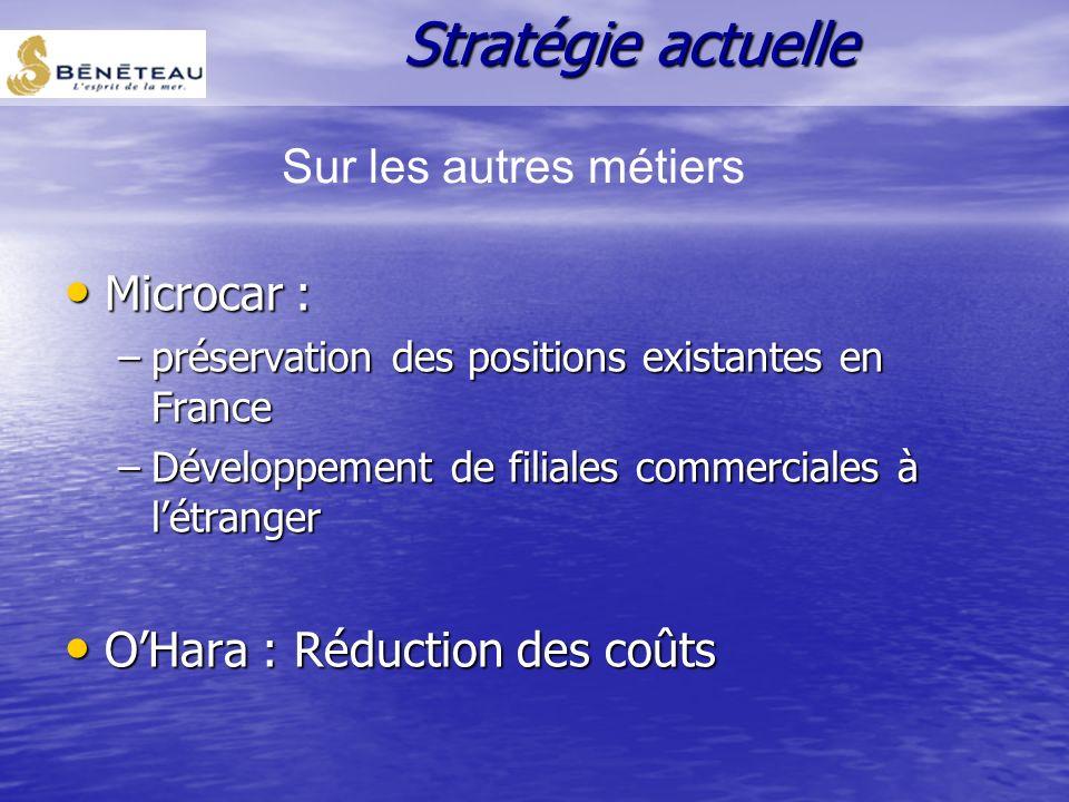 Stratégie actuelle Sur les autres métiers Microcar :