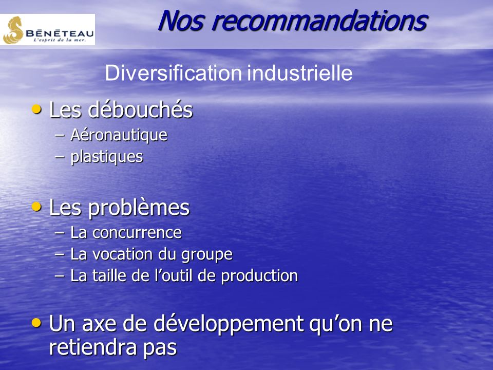Diversification industrielle
