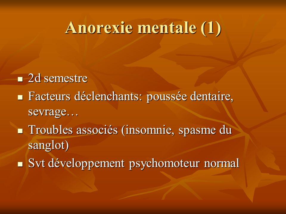 Anorexie mentale (1) 2d semestre