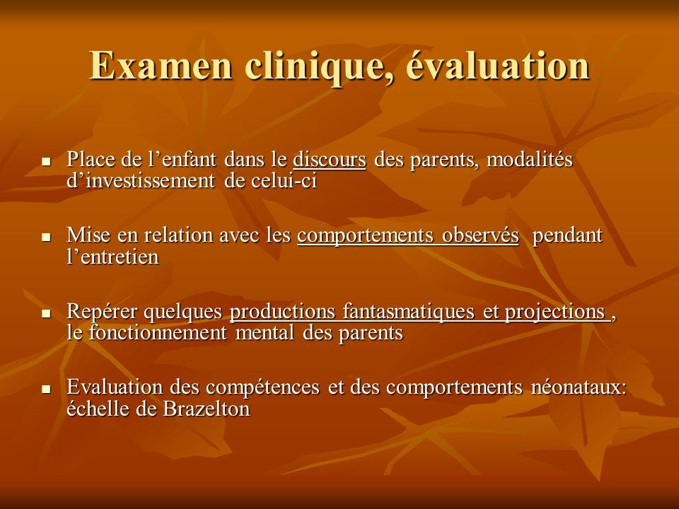 Examen clinique, évaluation