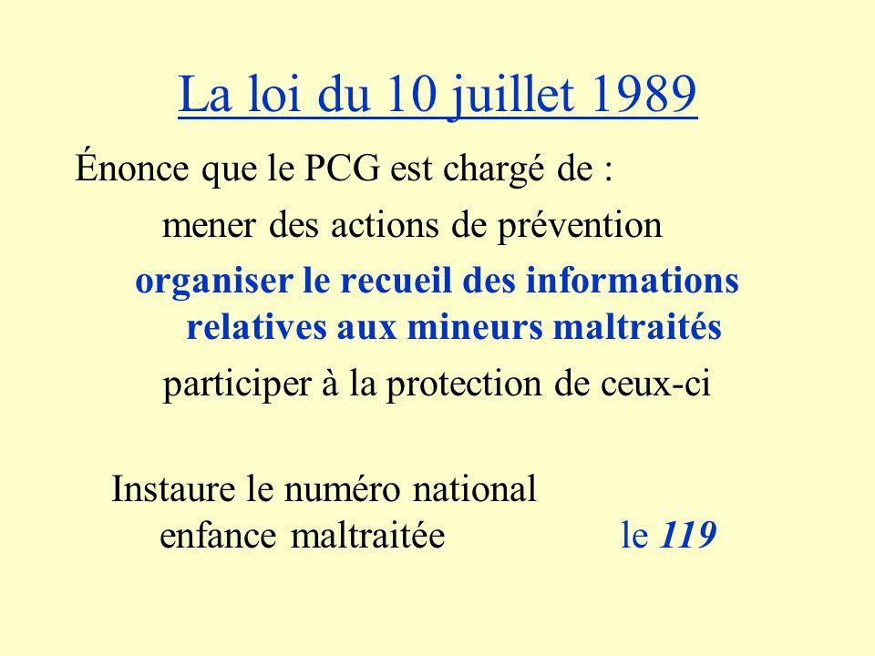 La loi du 10 juillet 1989 Énonce que le PCG est chargé de :